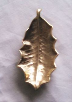 Virginia Metalcrafters Brass Cast Holly by ClassicVintageMetals
