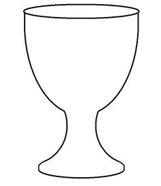 christian symbol black line art for kids | chalice the cup symbolizing the sacrament of eucharist or communion it ...