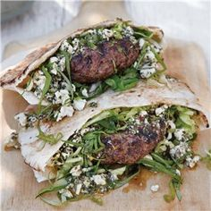Lamb Burgers with Mint Feta Pesto > Recipes | Williams-Sonoma Wine