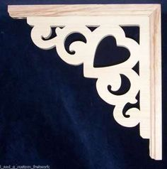 L&G Victorian Gingerbread Fretwork Heart Corner Trim Brackets 10 in Business & Industrial, Construction, Building Materials & Supplies Small Projects Ideas, Wood Projects, Woodworking Projects, Porch Brackets, Wood Brackets, Shelf Brackets, Scroll Saw Patterns, Wood Patterns, Diy Arts And Crafts