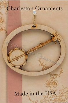 Banjo Ornament - Banjo Ornaments - Banjo Gift - Banjo Player Gift - Musician Gifts -  Musician Ornaments - Banjo Gift - Personalized Free