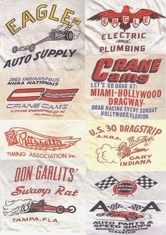 High Octane Motor Sport Graphics The 50's Sports Coat/Carcoat and awsome Chop Shop Photos Fantastic Vintage Drag Strip Graphics...