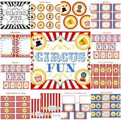 free circus birthday party printables