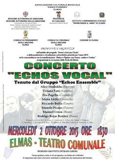 ECHOS VOCAL – CONCERTO PER LA FESTA DEI NONNI – ELMAS – MERCOLEDI 2 OTTOBRE 2013