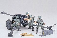 Tamiya German 75mm Anti-Tank Gun Plastic Model Military Diorama Kit 1/35 Scale
