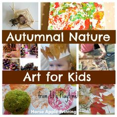 Some great ideas for creating art with kids using natural items this Autumn!