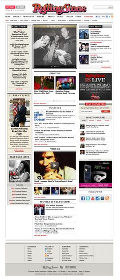 Rolling Stone: Layout