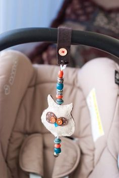 stuffed owl carseat dangle toy