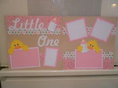 New Baby Girl Little One 2page 12x12 by ScrappingwithAmanda, $19.95