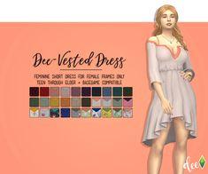 Dee-Vested Dress   Deetron Sims
