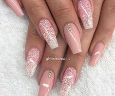 50 coffin nail art designs coffin nails nude and gold full set acrylic nails looking for hair extensions to refresh your hair look instantly kinghair only focus on premium quality remy clip in hair prinsesfo Choice Image