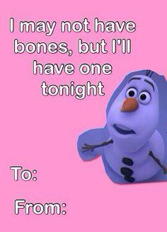 Ahahaha Frozen Jokes Are The Best Valentines Day Card Pinterest Valentines Valentine Day Cards