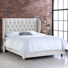 Skyline Furniture Diamond Upholstered Wingback Bed & Reviews | Wayfair