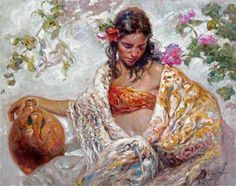 Melinda 60 2006 48x40 by  Royo - Oil on Canvas