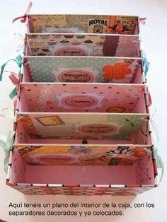 Para folders Diy Storage Boxes, Craft Room Storage, Scrapbook Organization, Craft Organization, Diy Organizer, Cardboard Box Crafts, Paper Crafts, Office Deco, Diy Karton