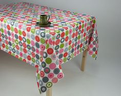 retro tablecloth