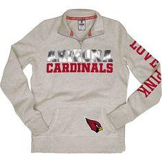 Arizona Cardinals 101 Holiday Gift Ideas: Women's Victoria's Secret PINK® Arizona Cardinals 1/2 Zip Fleece $79.99