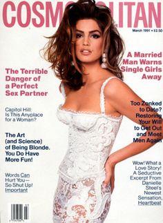 #CindyCrawford on Cosmopolitan cover circa 1991#supermodel #highendfashion