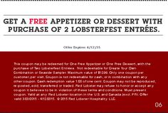 #Red Lobster Coupon#