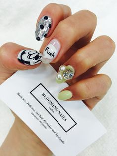 Mickey Mouse & Dot & Metal From. Bloomingnails