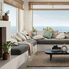 H&m Home Living Room, Sunken Living Room, Living Room Remodel, Living Room Sets, Living Room Designs, Zara Home, Hm Home, Beautiful Living Rooms, Outdoor Furniture Sets