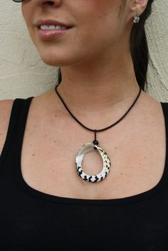Whelk Shell and leather necklace by RumCay on Etsy, $14.95