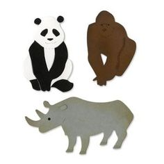 Ellison SureCut Die - Endangered Animals #2 - Large $40.00