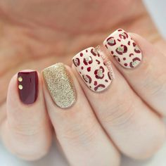 Fall Nail Art with Leopard Print by Paulina's Passions