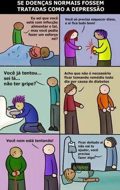 PsiconlineBrasil: Se outras doenças fossem tratadas como a depressão...