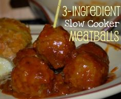 Slow Cooker Meatballs: A MUST for our Super Bowl Party