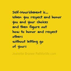 Self-Nourishment selfnourishment.pathforlife.com