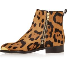 Balmain Toomai leopard-print calf hair boots ( 649) ❤ liked on Polyvore  featuring shoes 688d83814c9
