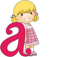 Picture of Illustration of a Kid Leaning Against a Letter A stock photo, images and stock photography. Activities For Kids, Crafts For Kids, Abc For Kids, English Reading, Letters And Numbers, Clipart, Smurfs, Illustration, Banner