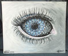 """Panes Enstone"". Acrylic on Canvas (50 x 60cm panel)."
