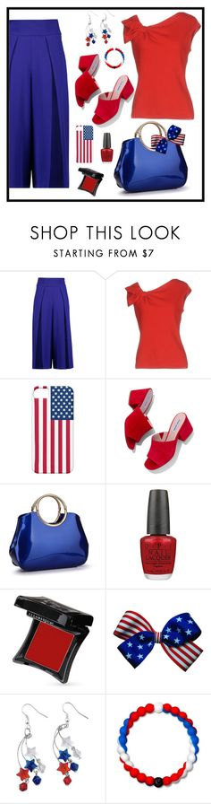"""Untitled #2052"" by ebramos ❤ liked on Polyvore featuring Milly, Valentino, Steve Madden, OPI, Illamasqua and Lokai"