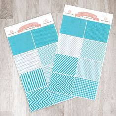 8 Teal Square Stickers   Fits Perfectly In Your Erin Condren Planner!