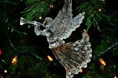 Angel ornament on my Christmas tree. High quality & focus.
