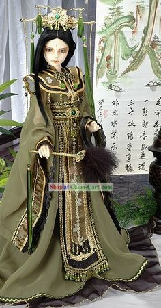 Ancient Chinese Emperor Costume and Crown Complete Set Fashion Dolls, Fashion Art, Prince Costume, Bjd Doll, Chinese Emperor, Chinese Dolls, Barbie Gowns, Asian Doll, Chinese Clothing