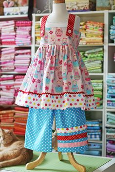 Fun pants. I already have this pattern. I am modifying it for K's Easter dress.