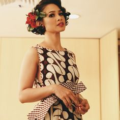 batik dress: batik parang pattern