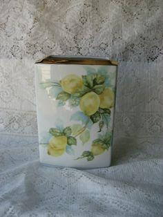 LEMON PORCELAIN VASE / Hand Painted by PorcelainChinaArt on Etsy, $39.95