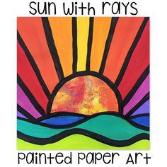 Happy Sun Rays | Painted Paper Art