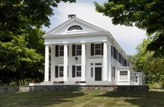 Restorations and Additions to a 19th Century Greek Revival House Pleasant Valley, New York John B. Murray Architect #beautifulhomes