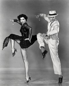 This image is from Silk Stockings and features Fred Astaire as Steve Canfield and Cyd Charisse as Ninotchka Yoschenko