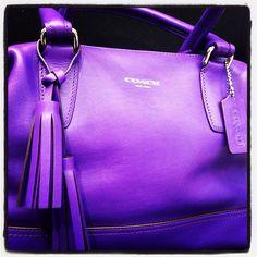 Purple coach bag.... I have always wanted a purple purse!