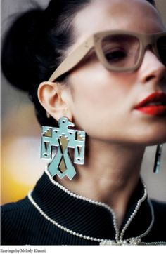 Melody Ehsani ~ dope earrings ~ #FIERCE