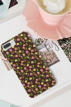 Coffee and roses, in exactly that order ☕ 🌹 Phone case for iPhone or Samsung. Share with a friend that would like this case. Phone Covers, Iphone Cases, Roses, Samsung, Coffee, Floral, Mobile Covers, Kaffee, Pink