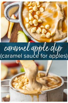 Caramel Apple Dip is a Skinny (believe it!) Caramel Sauce for Apples that will leave your sweet tooth satisfied and is so easy! This Cream Cheese Apple Dip Recipe is what every party needs! This Caramel Apple Dip is a lightened up version of our favorite sweet snack is gone in minutes every time. #appledip #caramel #caramelappledip #skinny #healthy #thecookierookie #apples via @beckygallhardin