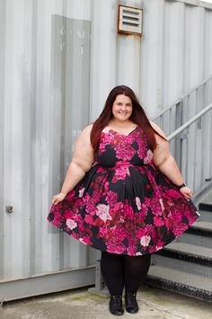 87a50cf20eb6 New Zealand plus size fashion blogger Meagan Kerr wears Autumn Days Dress  from City Chic Fashion