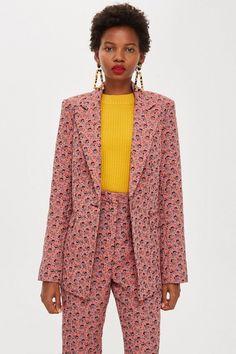 51cb0aadf551 Floral Jacquard Single Breasted Jacket. Single BreastedBlazerTopshop  TallSuit ClothingOotdGirlsWomen s ...